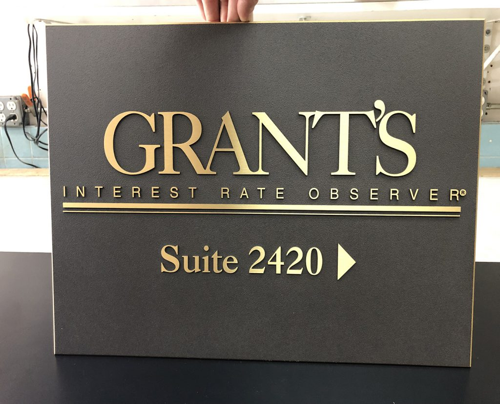 Gold Letters Name Plates