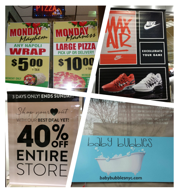 Printed And Hand Painted Paper Poster Signs For Windows In NJ