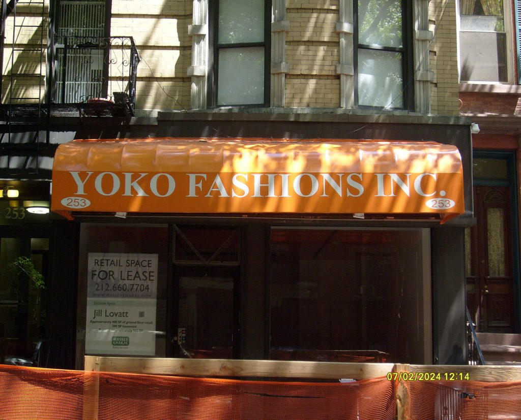 Printed awnings for storefronts