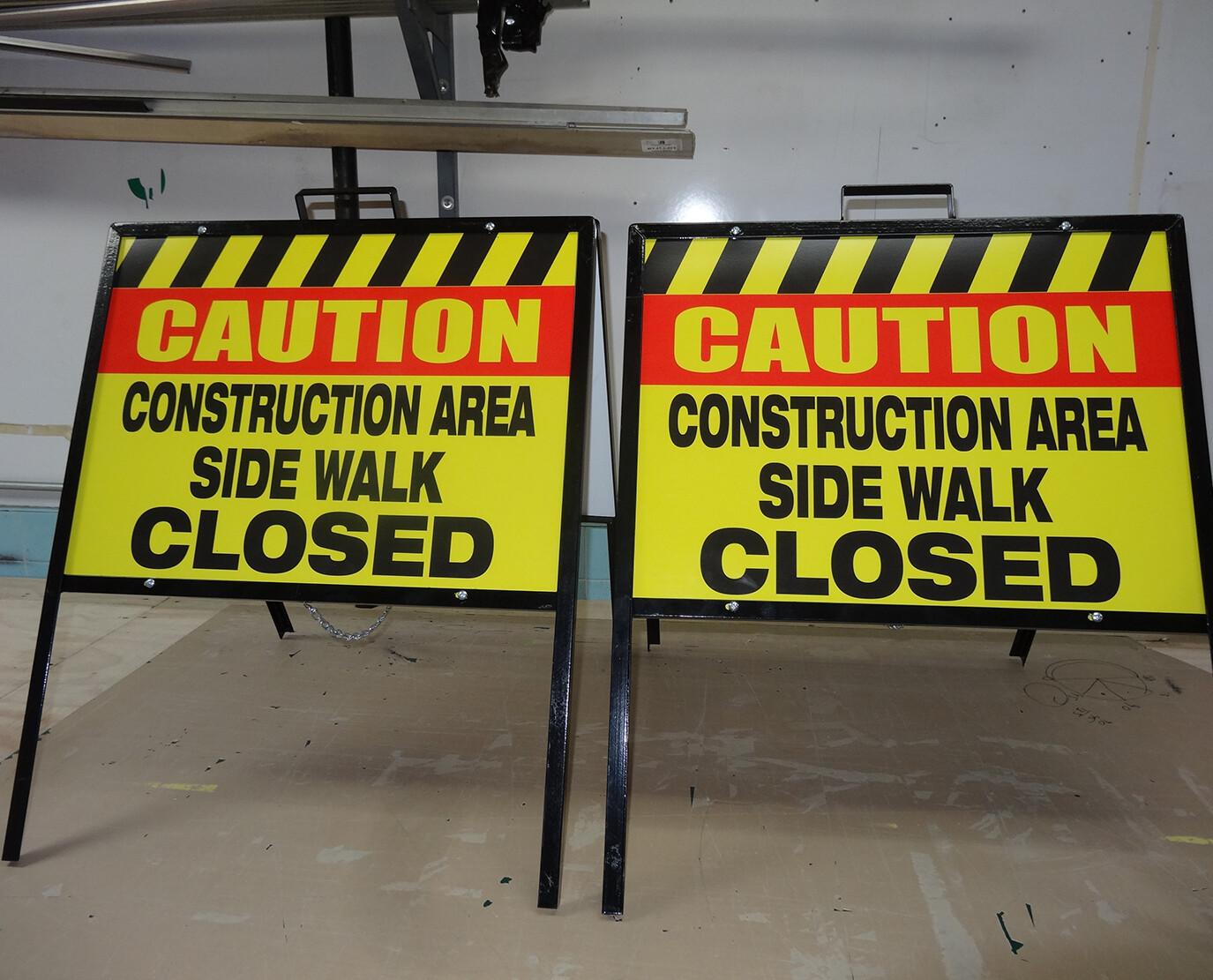 Customization Options for Sidewalk A-Frame Signs