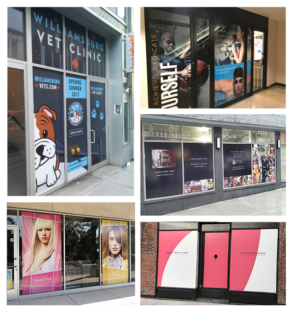 Temporary Window Vinyl Stickers and Graphics for Businesses and Retail Stores