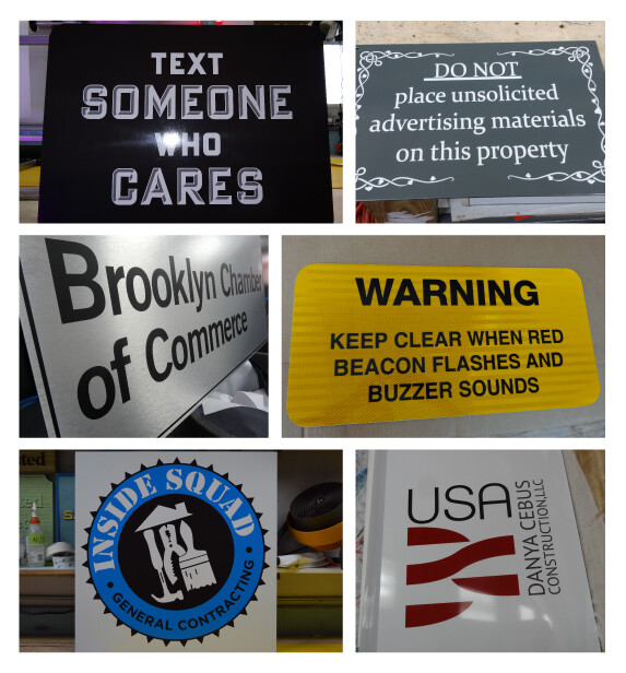 Cut-to-shape and Printed Dibond Signs In NJ