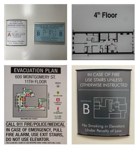 Egress Maps & Emergency Exit Signs Manufacturer in NJ