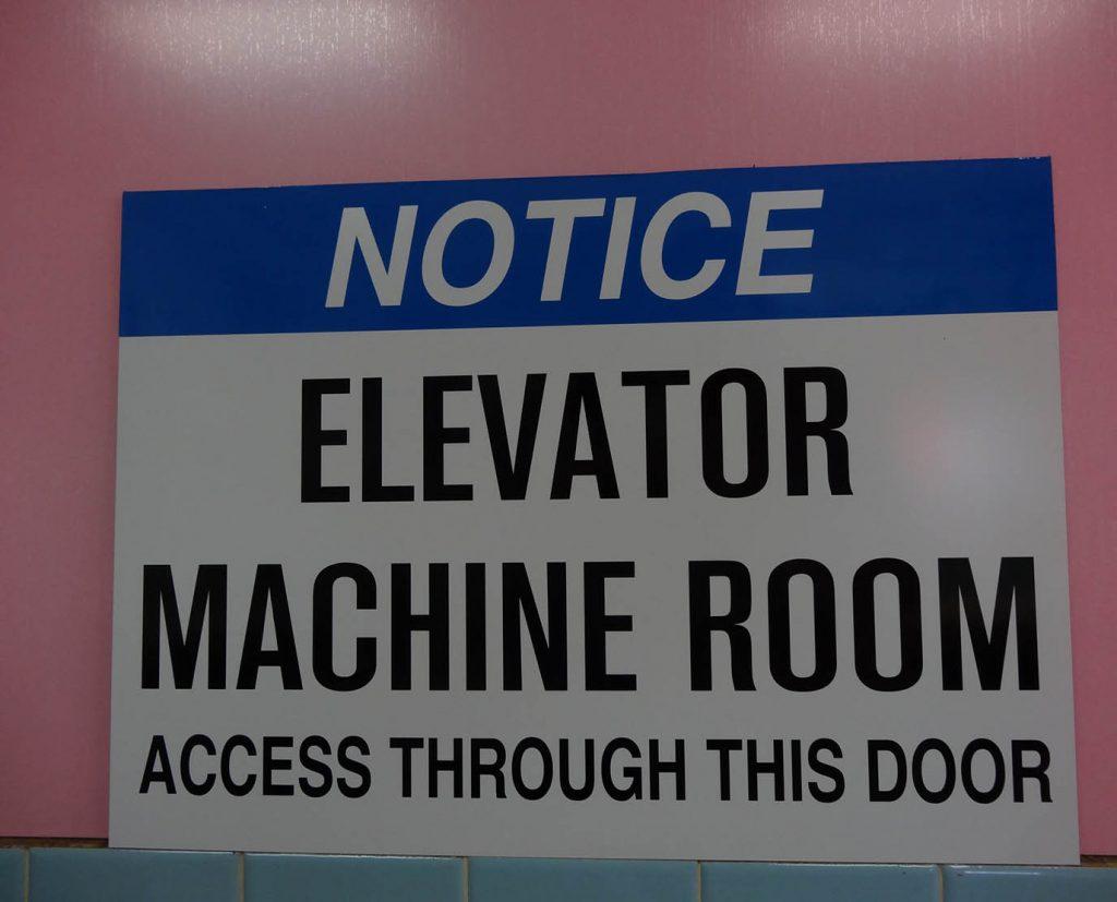 Elevator Notice Safety Sign
