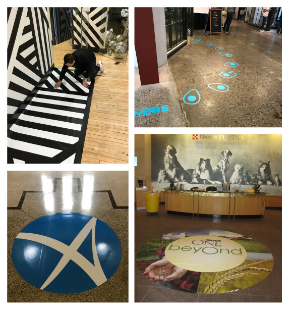 Floor Decals and Graphics For Malls and Events
