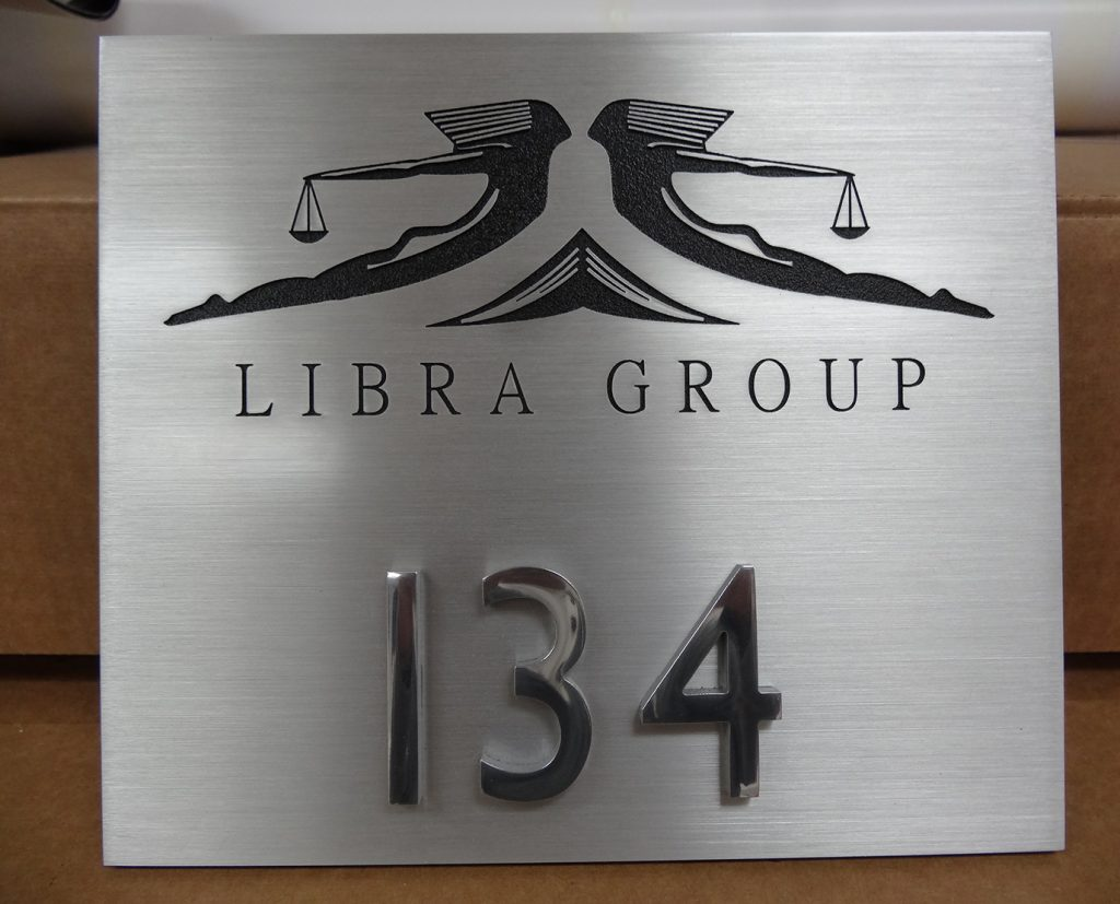Metal Logo printed plaque
