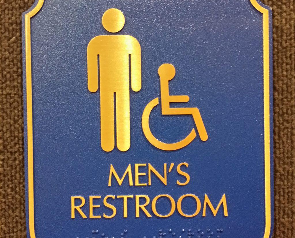 Restroom ADA Signs for Men