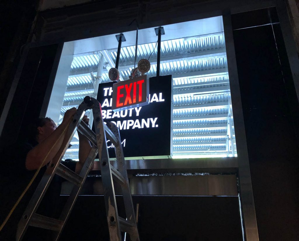 Outdoor Hanging Lightbox Signs