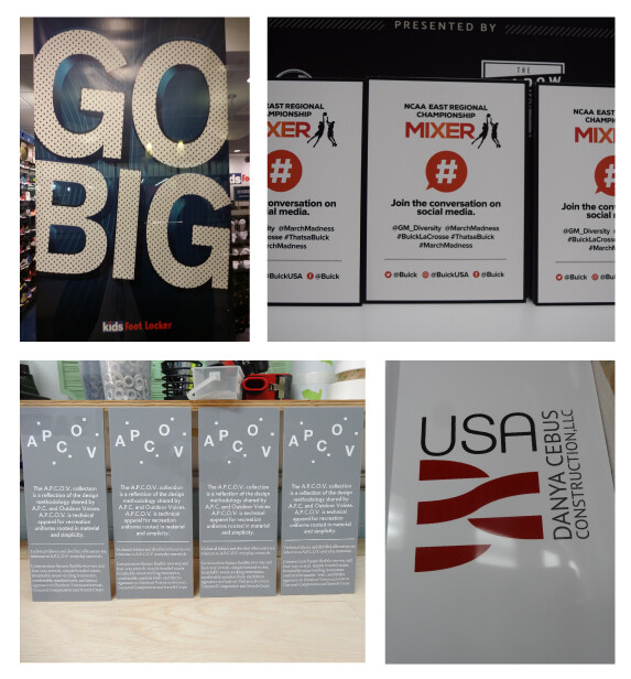 Custom Shape Rigid Signs for Events and Businesses