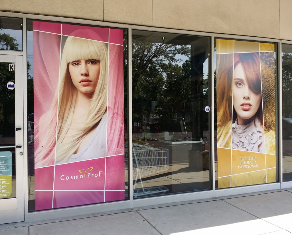 Window wraps for salon