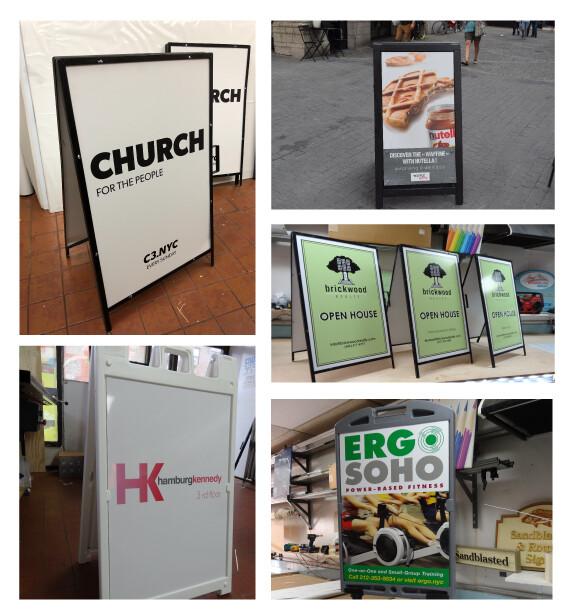 Sidewalk Sandwich Board Signs For Retail Stores & Restaurants in NJ