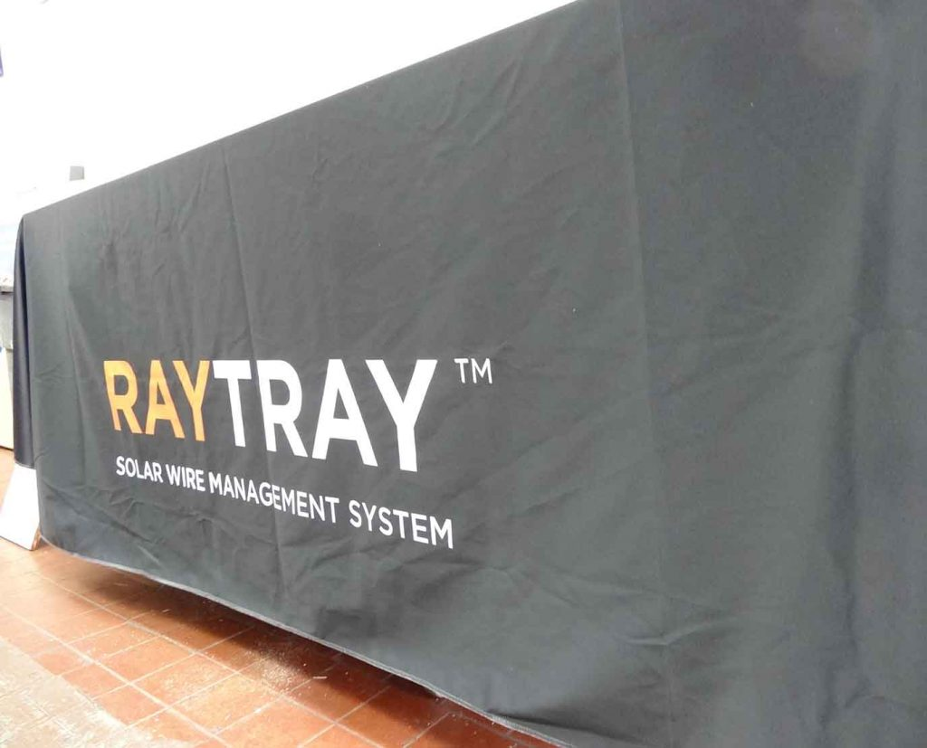 Table Throws for tradeshow booth