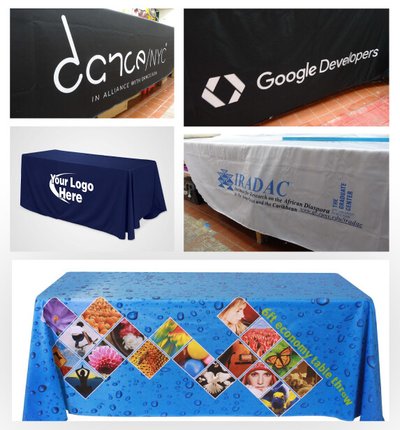 Promote your Brand with Custom Table Throws in Events