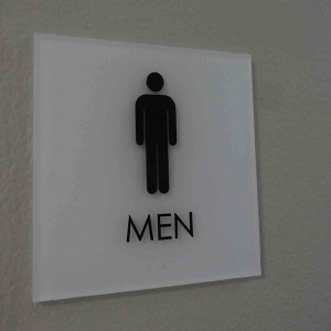 Men Only Lobby Signs