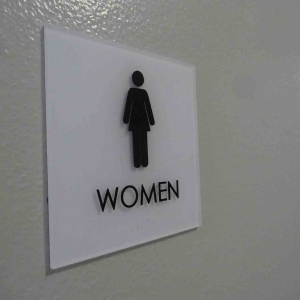 Women Only Lobby Sign