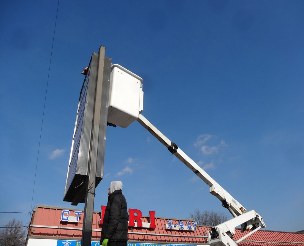 Pole Sign Repair