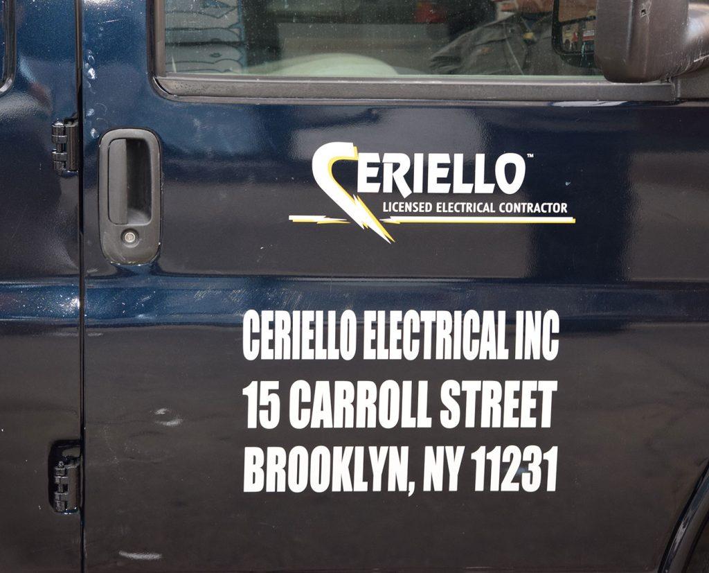 truck door Vinyl Lettering
