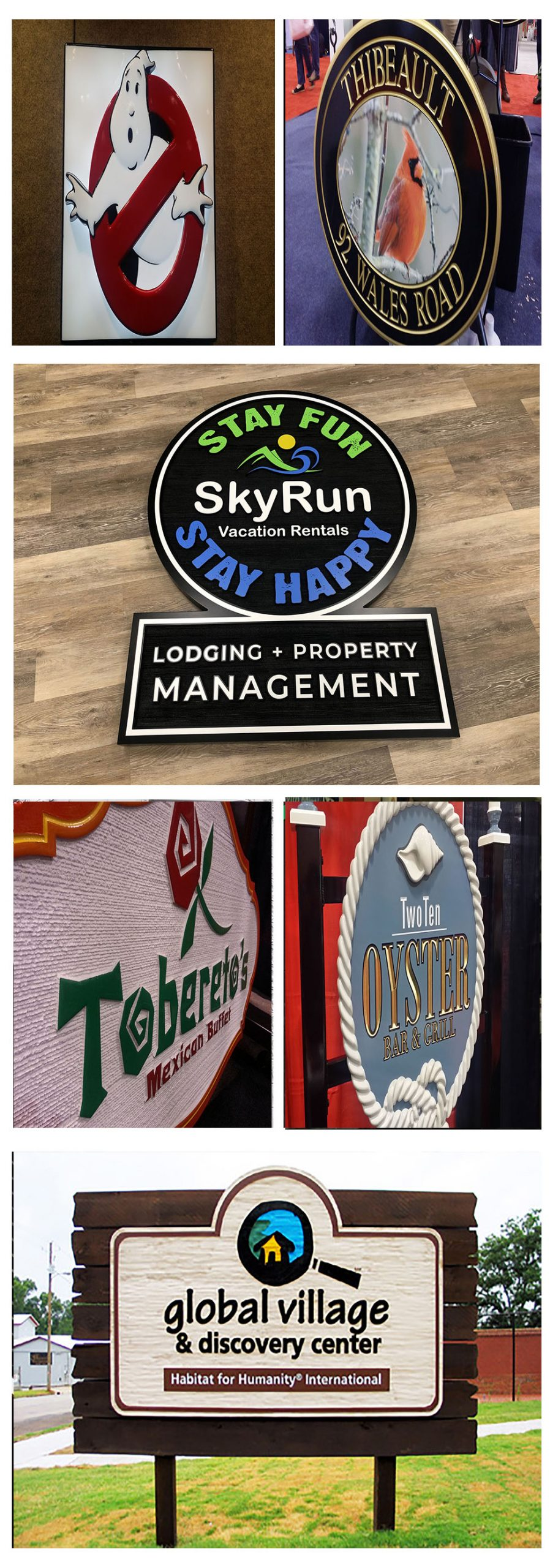 Options for Hand Carved Signs