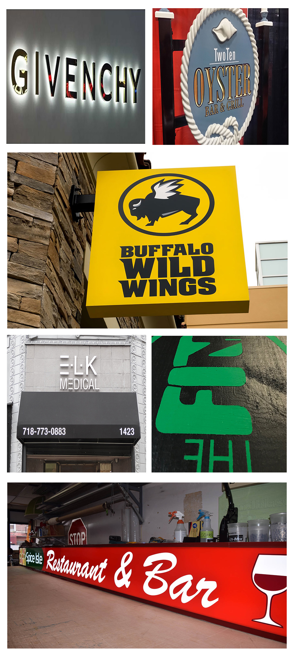 Options for Exterior Signs from Blue Dot Signs