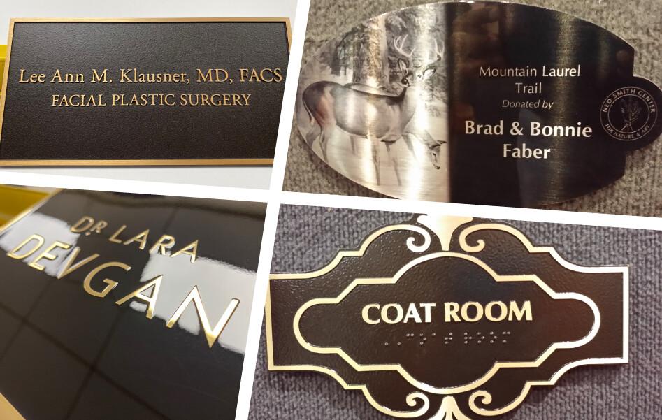 Custom Metal plaques options