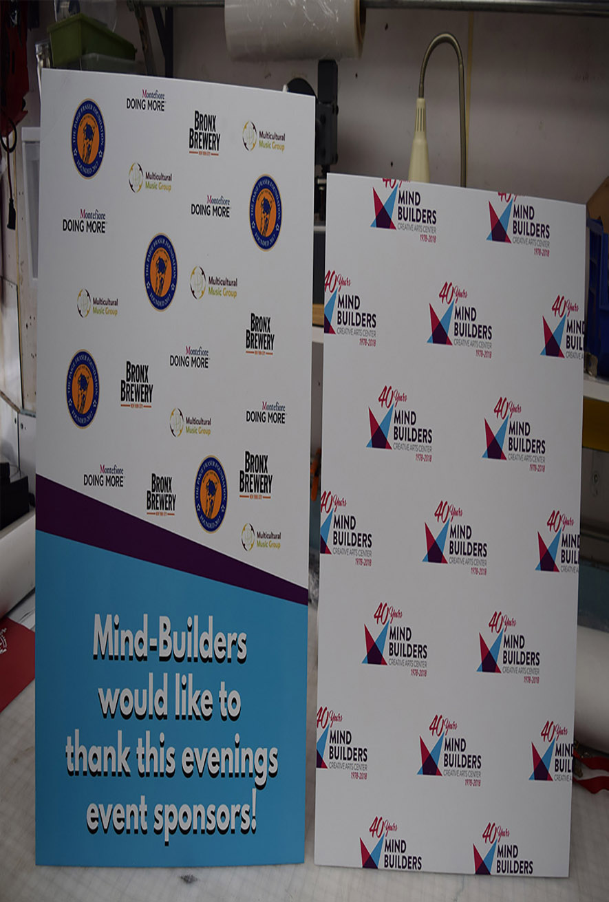 Specifications for Step ad Repeat Backdrops