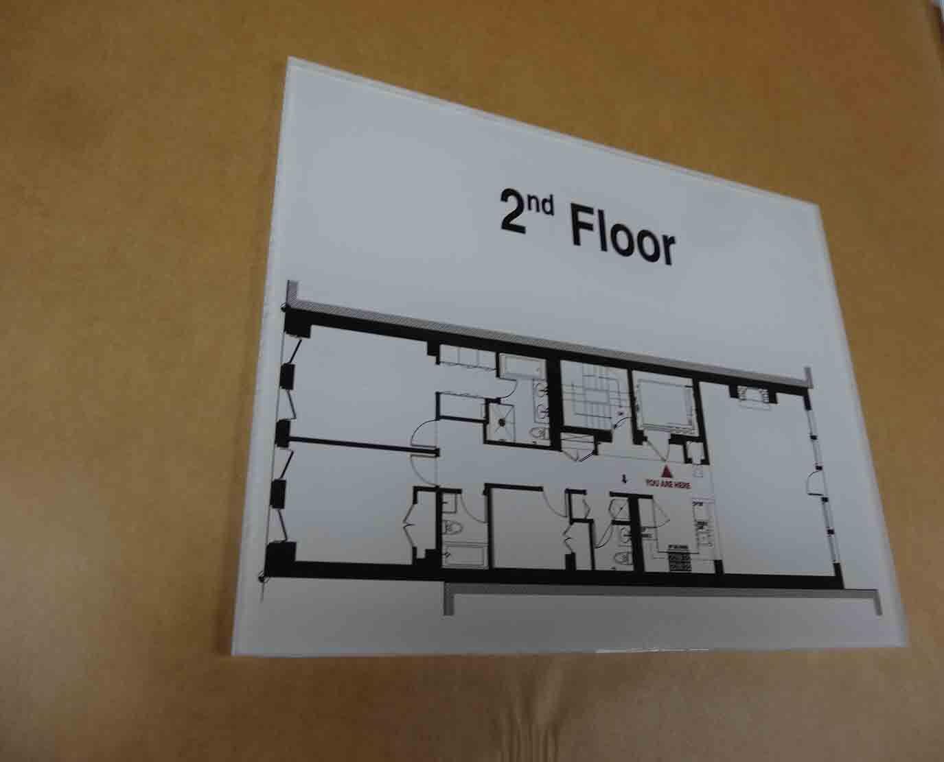 Floor Egress Map signs