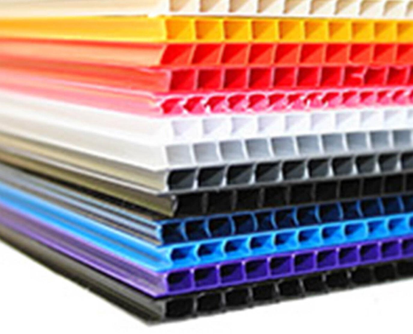 custom color corrugated plastic sheets