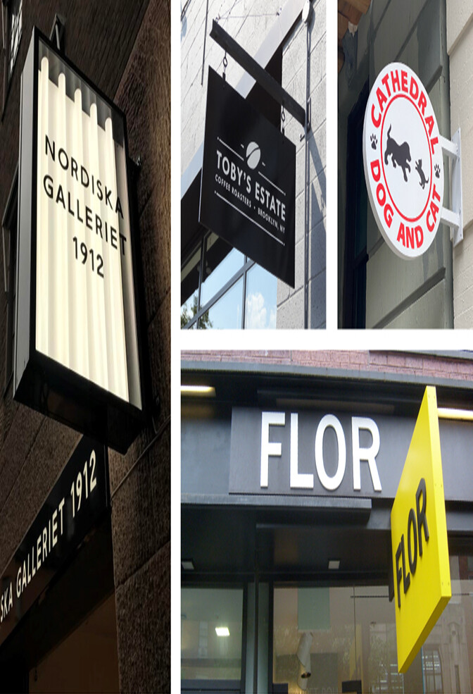 Options for Custom Hanging Blade Signs