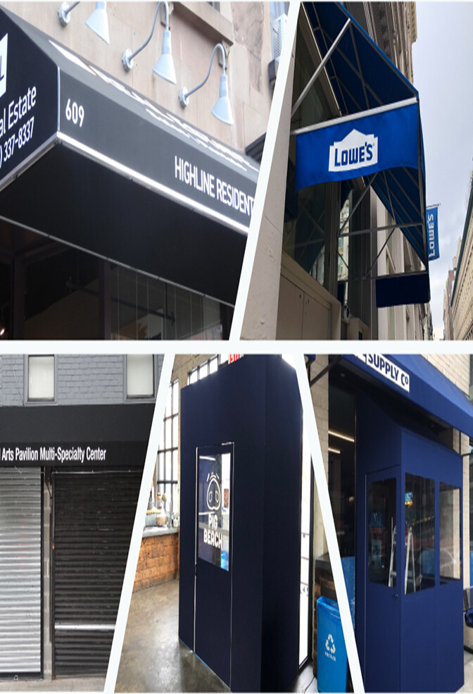 Options for Awnings Available at Blue Dot Signs
