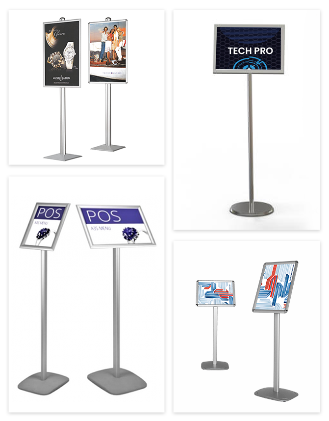 Floor & Table Display Stands with Printed Rigid Graphics in NJ