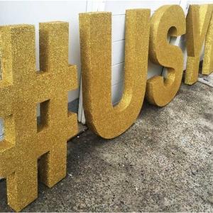 Golden Foam Letters
