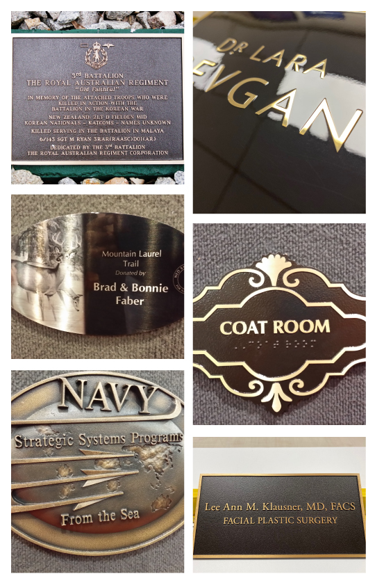 Customization Options for Custom Plaques in NJ